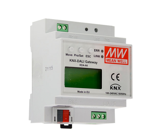 Meanwell KNX DALI Gateway 1-kan (64 don)