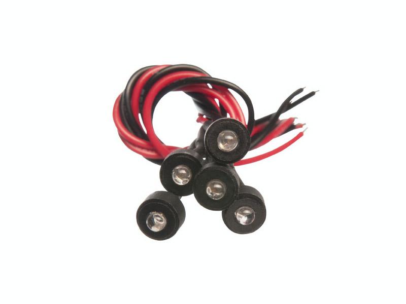 eelectron Mini-LED Indikeringslysdiod Vit 20st