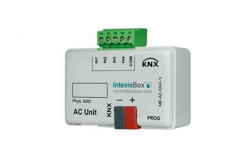 IntesisBox KNX/Mitsubishi AC GW (RAC,PAC,VRF) +4IN