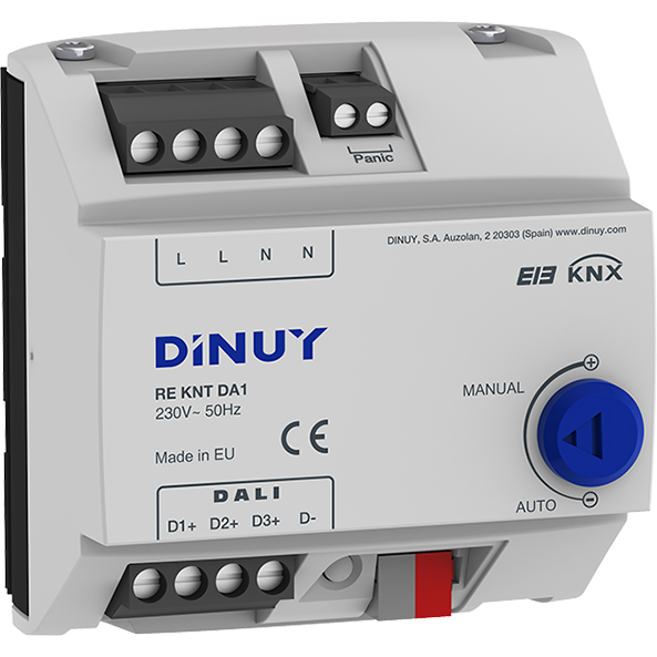 DINUY Dimmeraktor 3-kan DALI Broadcast