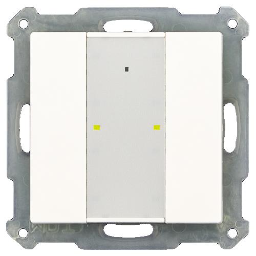 MDT RF Tryckknapp Push Button Plus 2-kn + 2UT Vit blank