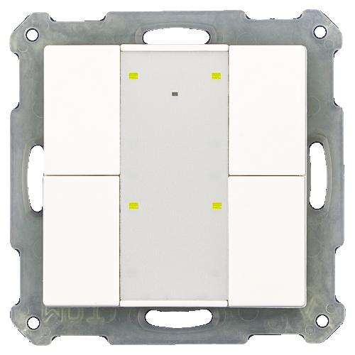 MDT RF Tryckknapp Push Button Plus 4-kn + 2UT Svart blank