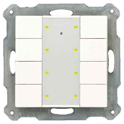 MDT RF Tryckknapp Push Button Plus 8-kn + 2UT Svart blank