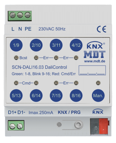 MDT KNX DALI Gateway (1-kan 64 don)