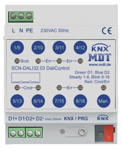 MDT KNX DALI Gateway (2-kan 128 don)