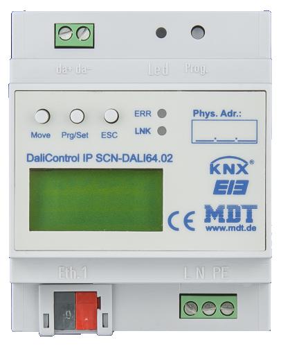 MDT KNX DALI Gateway (1-kan) Web Interf. RGB
