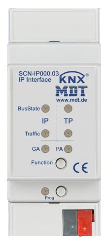 MDT IP-gränssnitt + email, timeserver KNX Secure