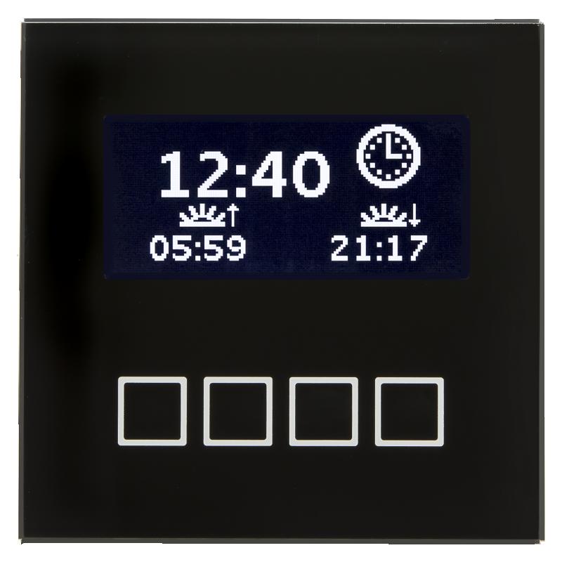 MDT Minikontrollpanel LCD Färgdisplay Svart