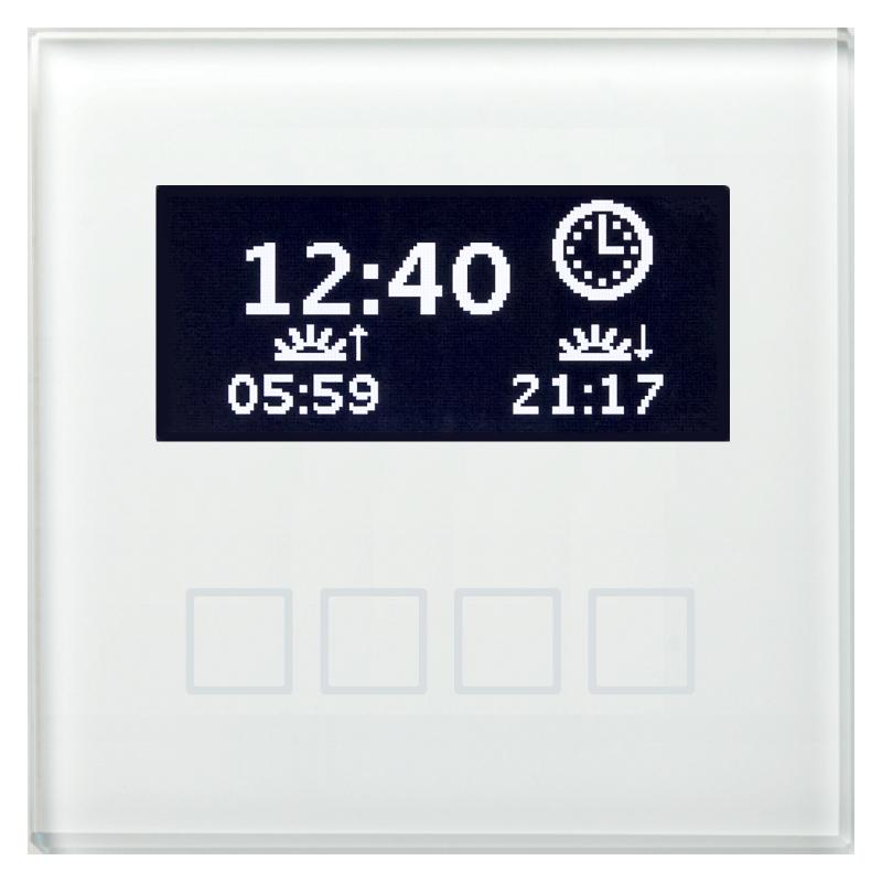 MDT Minikontrollpanel LCD Färgdisplay Vit