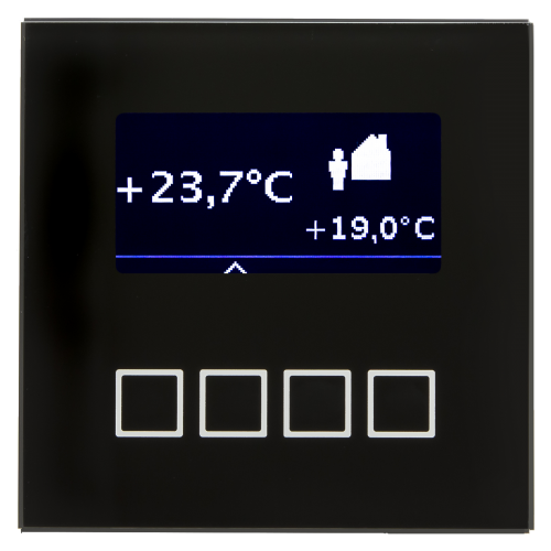 MDT Termostat 4-kn Svart glas