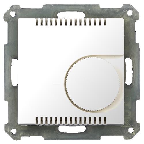 MDT Termostat 55x55 Vit blank med vred