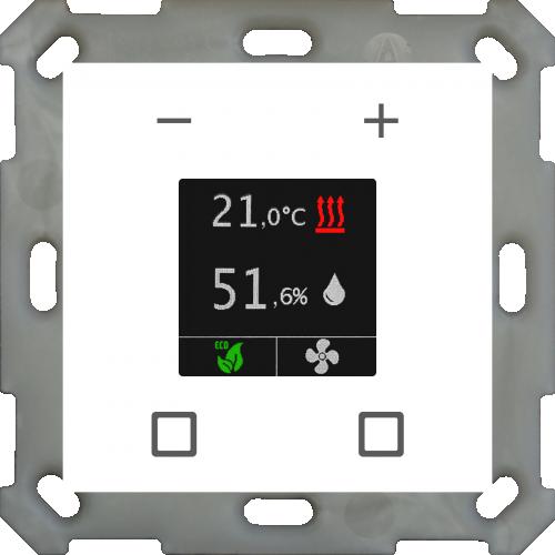 MDT Rumstermostat Smart 55mm Färgdisplay Vit blank