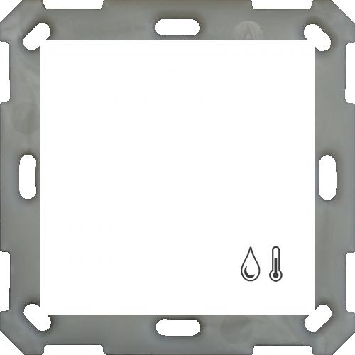 MDT Rumstermostat Luftfuktighet 55mm Vit blank