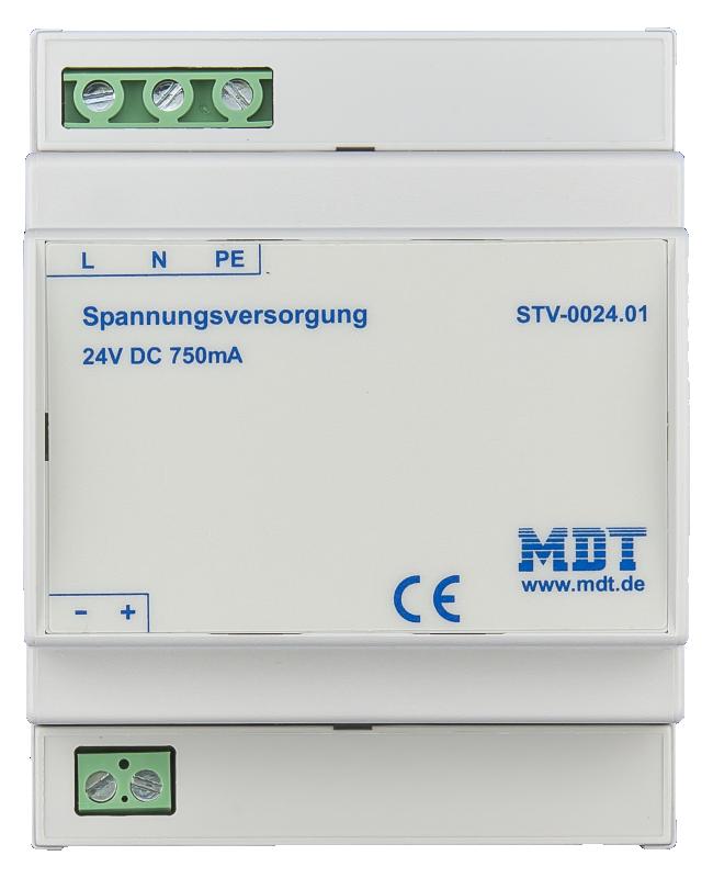 MDT Extern strömförsörjning 750mA 24VDC STV