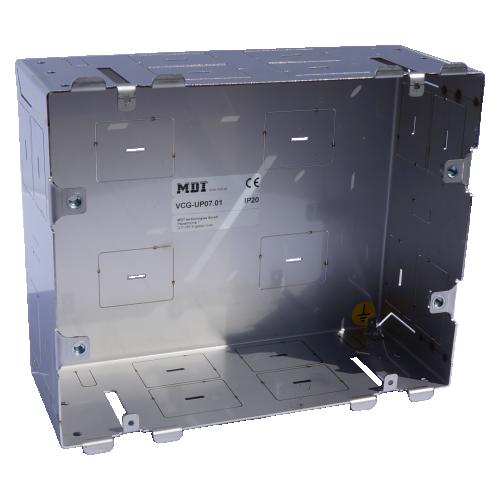 MDT Visucontrol 7-tum Infällnadsbox metall