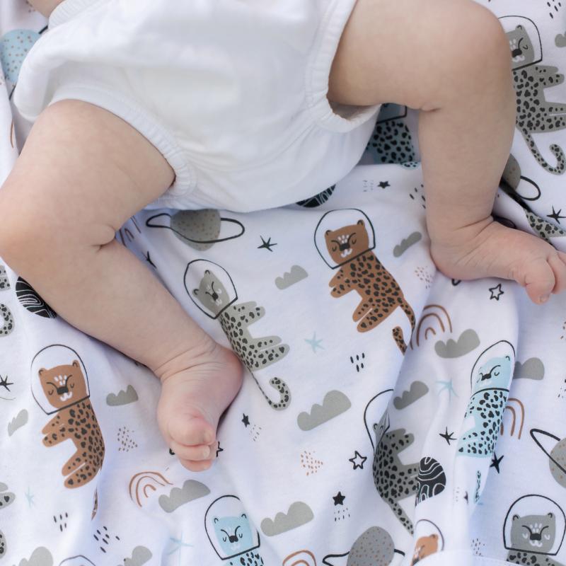 Babyblanket astrocat blue
