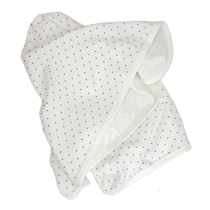 Babyblanket white dotty