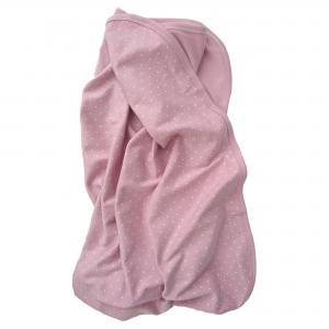Babyblanket soft pink dotty
