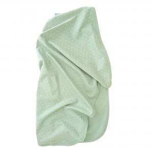 Babyblanket soft mint dotty