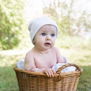 Babyblanket white line