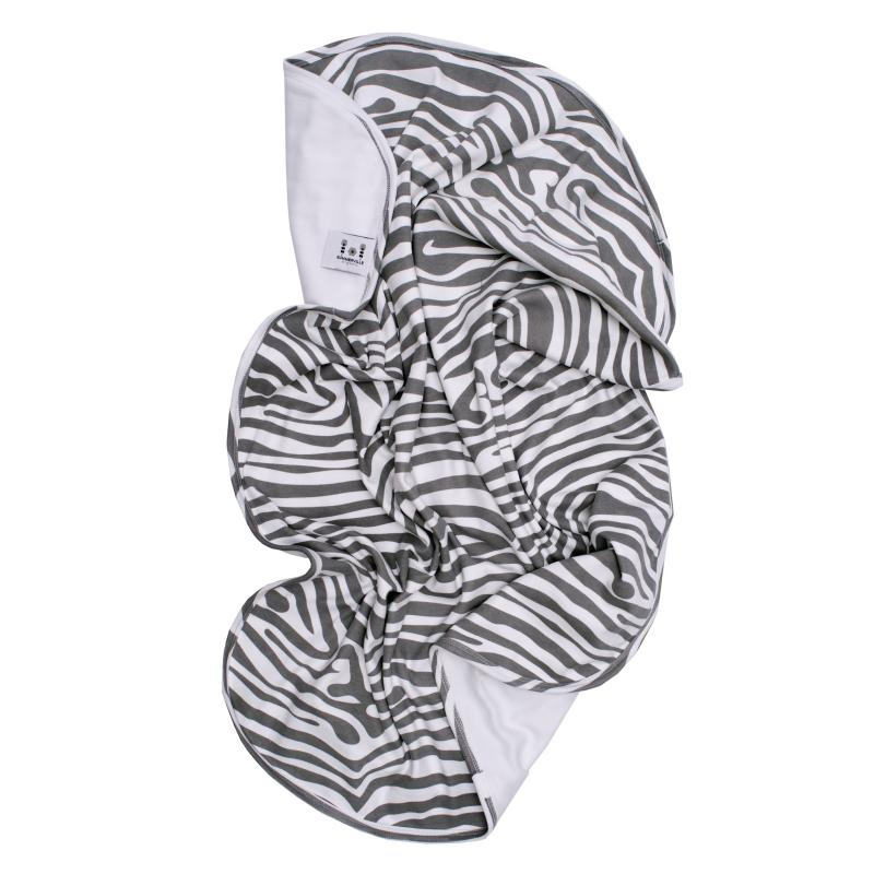 Babyblanket animal grey