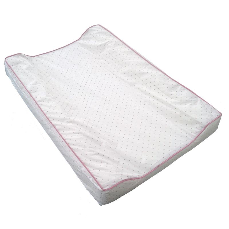 Wchanging pad white/pink dotty
