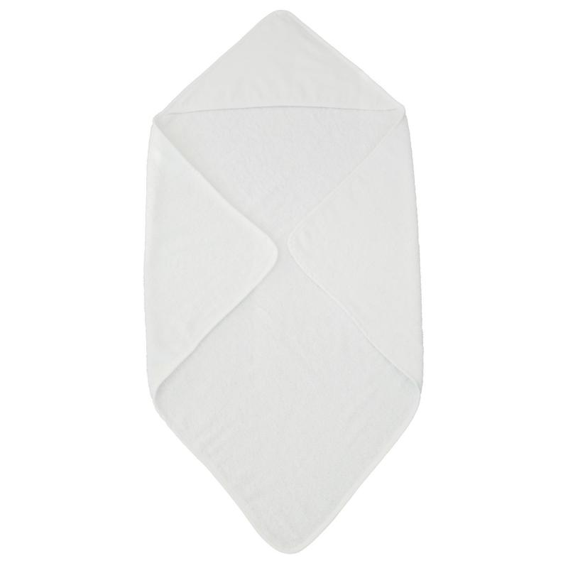 Hooded towel classic white