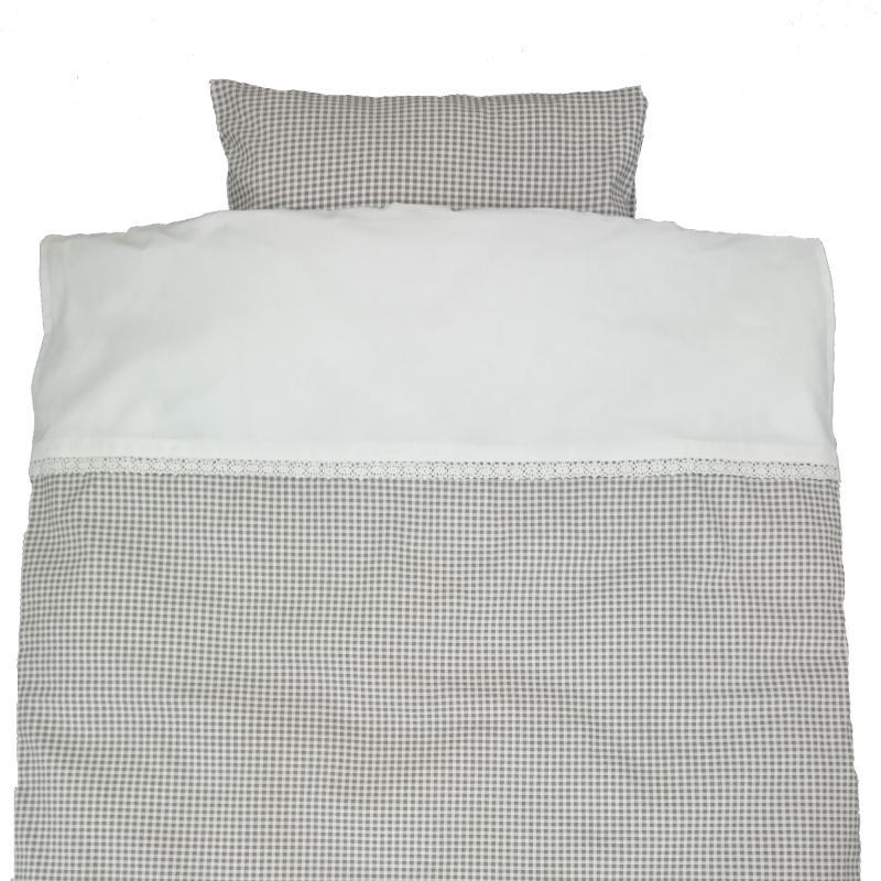 Bedding junior gingham grey