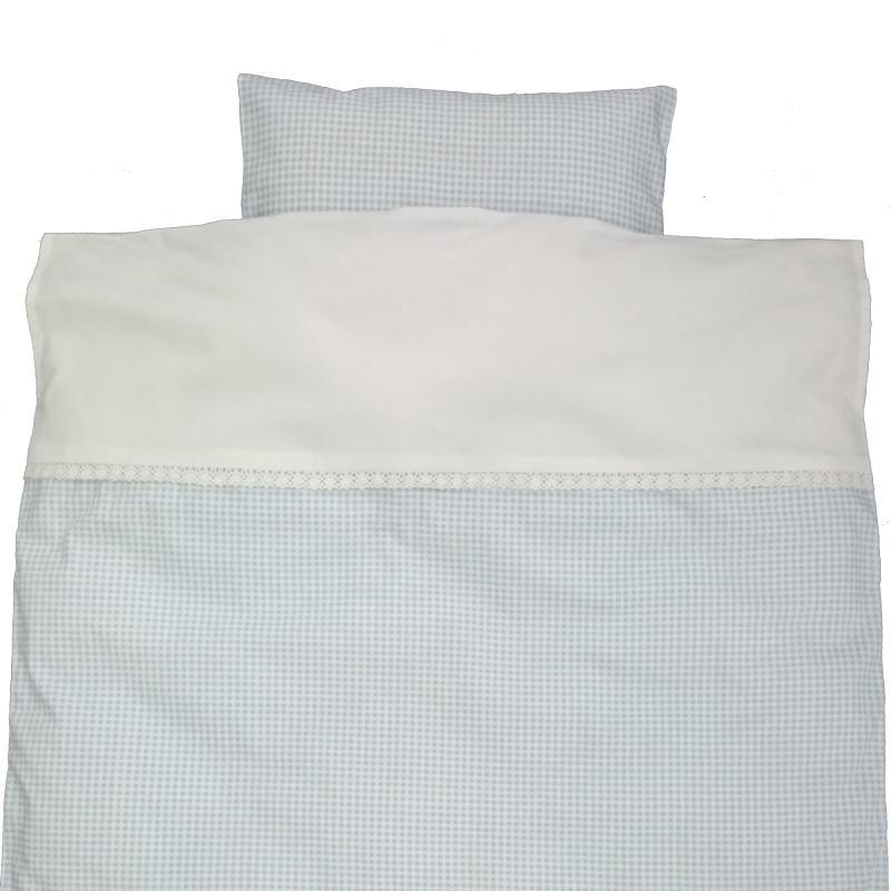 Bedding junior gingham blue