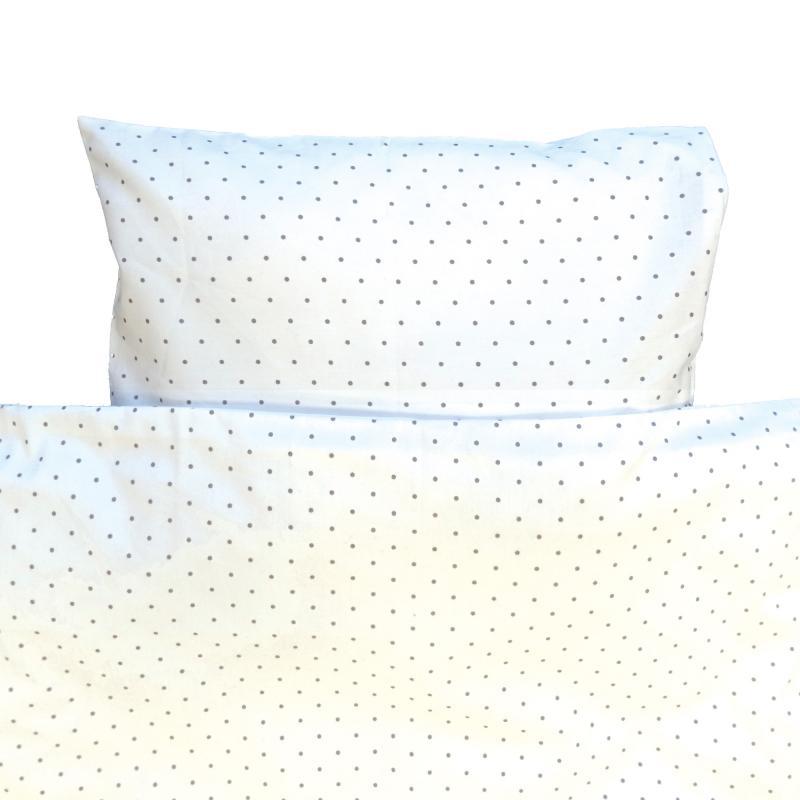 Bedding junior white dotty