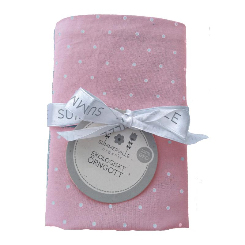Pillow case junior soft pink dotty