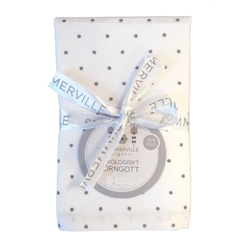 Pillow case junior white dotty