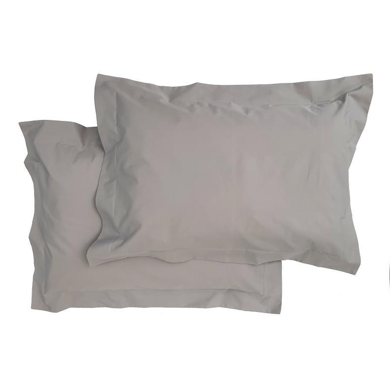 Pillow case 2 pcs junior grey classic GOTS