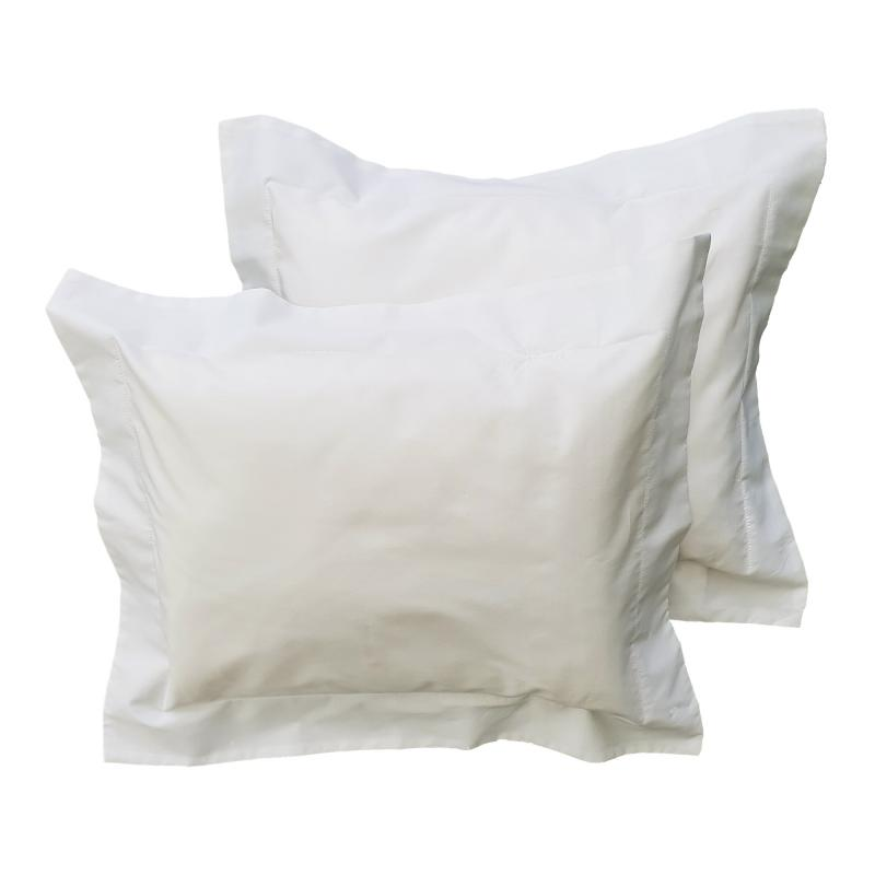 Pillow case 2 pcs baby white classic GOTS