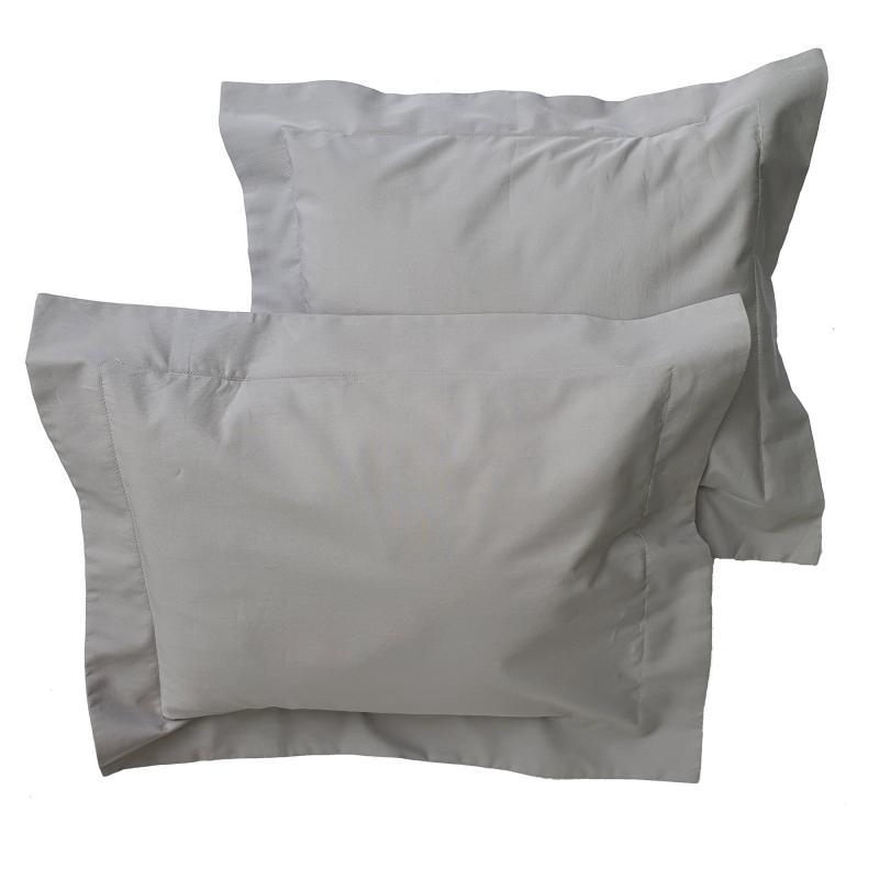 Pillow case 2 pcs baby grey classic GOTS