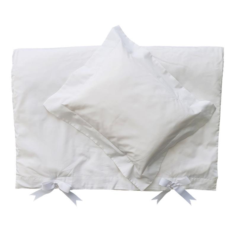 Bedding baby white classic GOTS