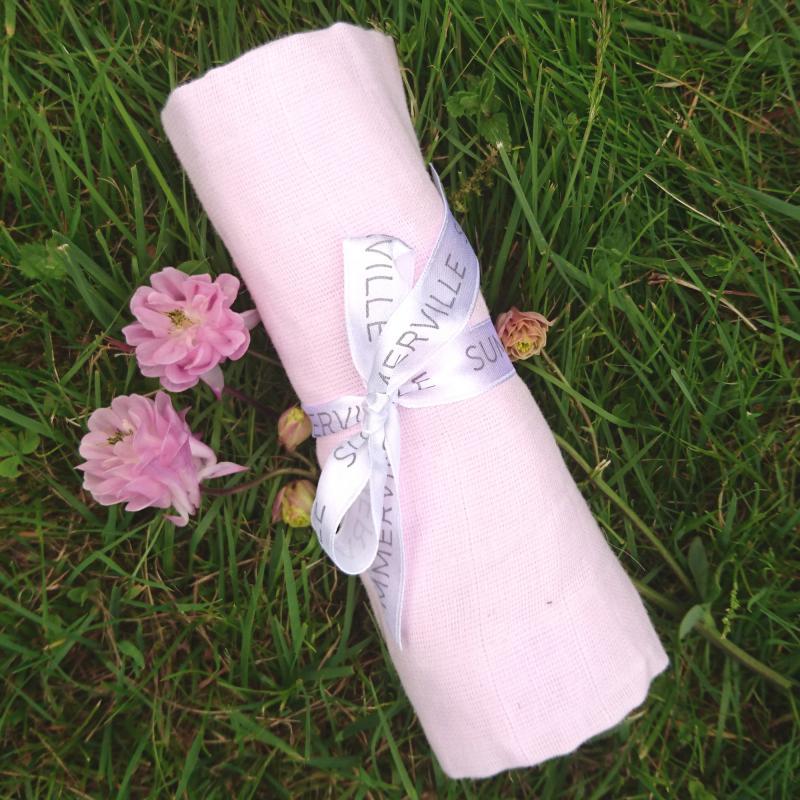 Muslin blanket pink