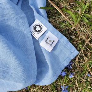 Muslin blanket forever blue