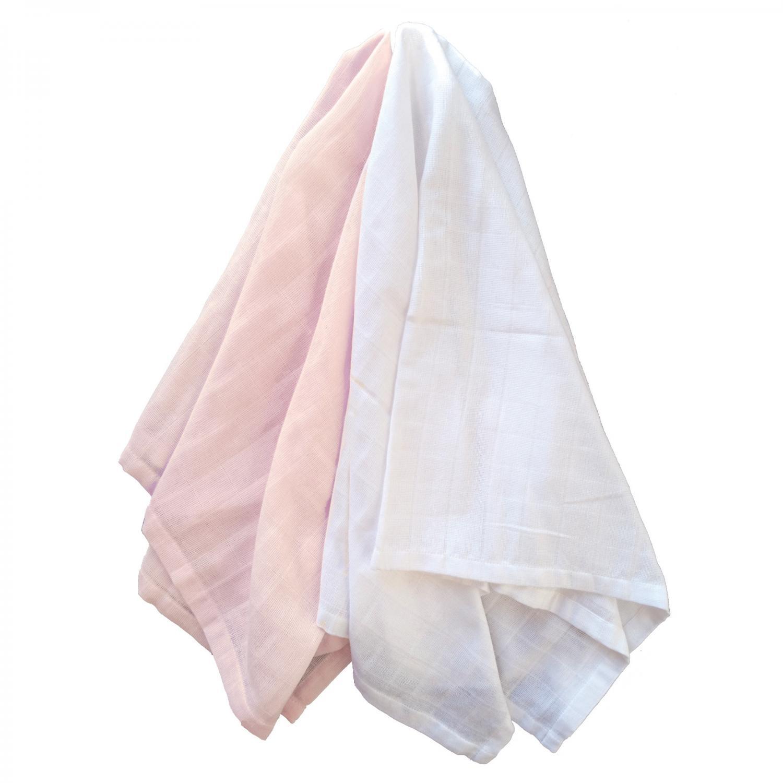 Muslin pack of 2 pale pink