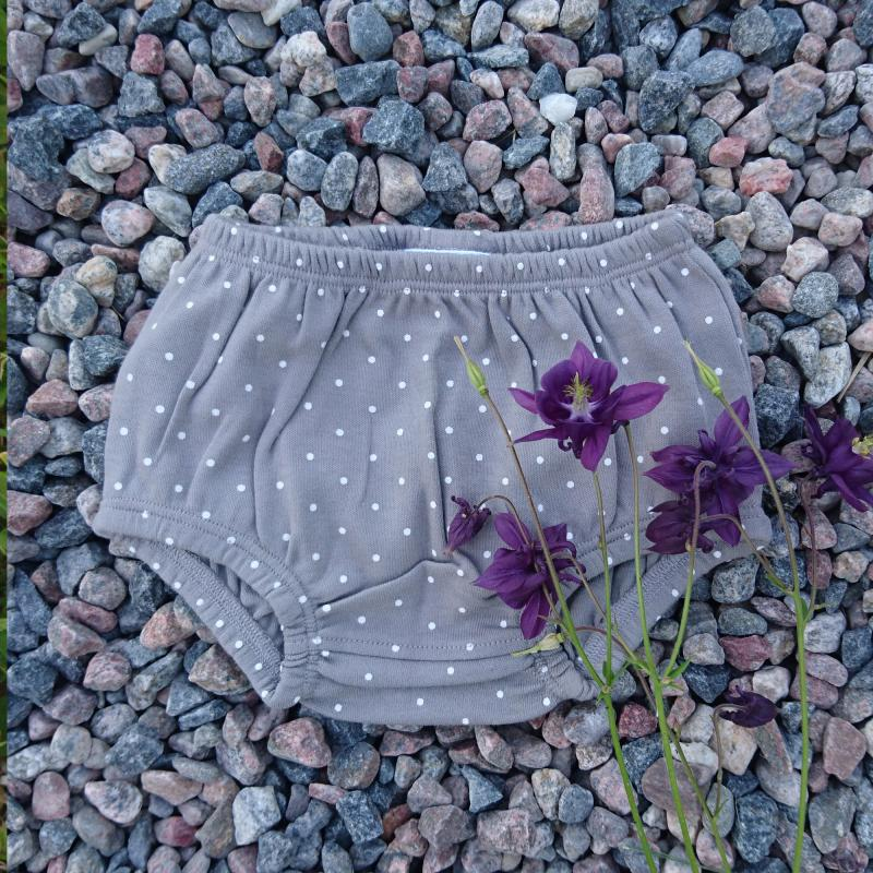 Bloomers pack of 2 grey dotty