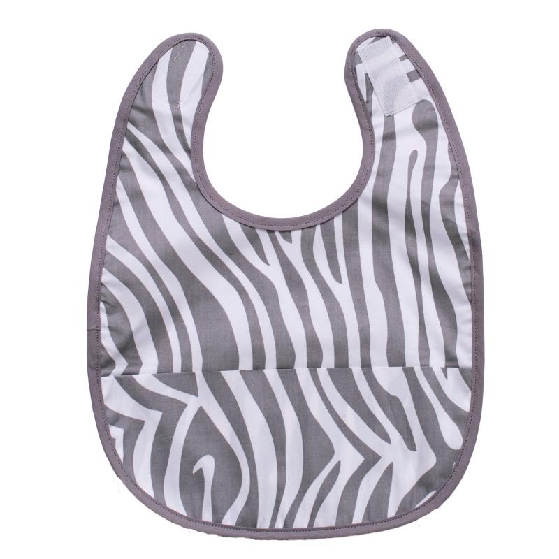 Bib animal grey