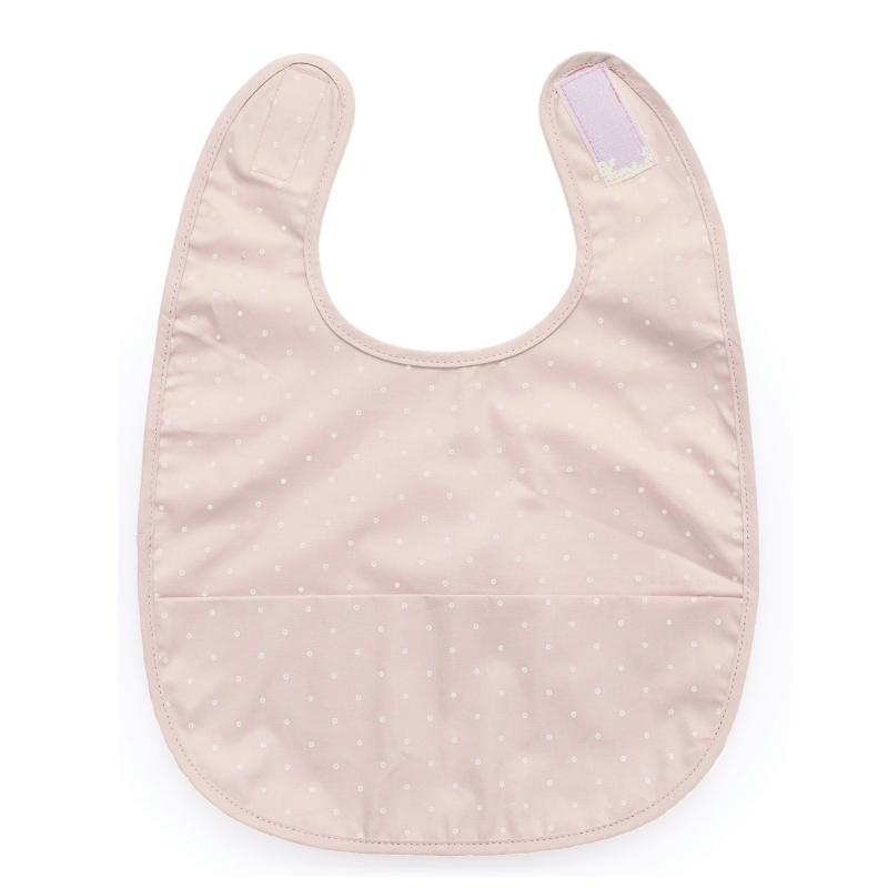 Bib pale pink dotty