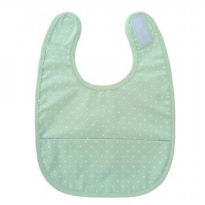 Bib soft mint dotty