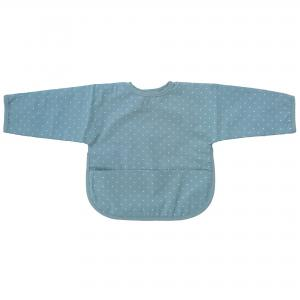 Bib with sleeves sapphire dotty