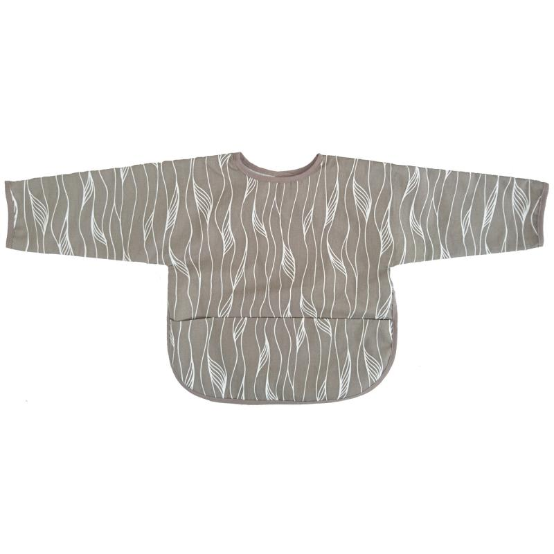 Bib with sleeves grey twist
