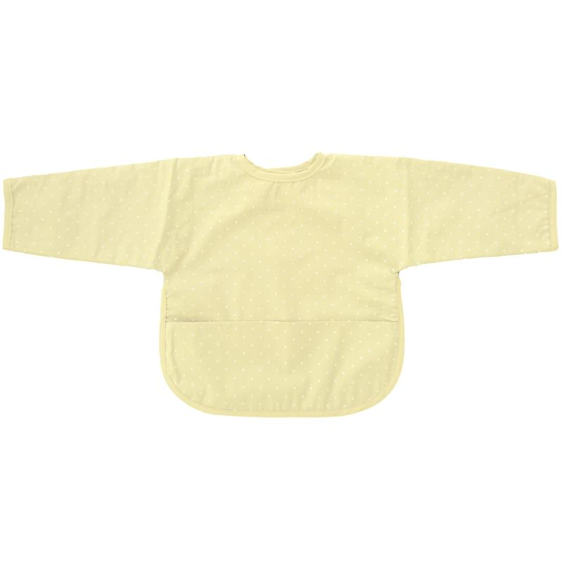 Bib with sleeves yellow dotty