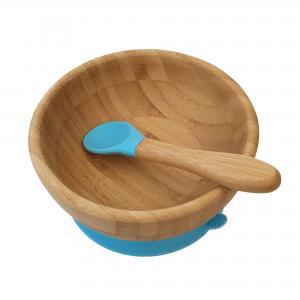 Bamboo bowl blue
