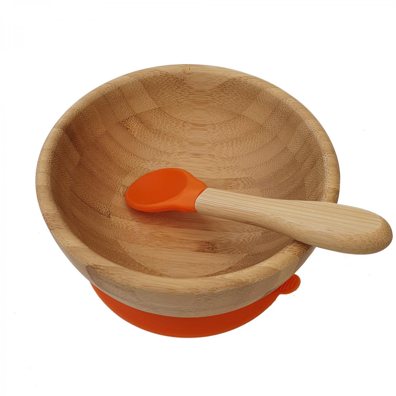 Bamboo bowl orange