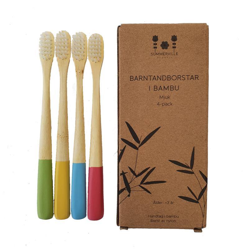 Kids toothbrush mixed colours 4-pack
