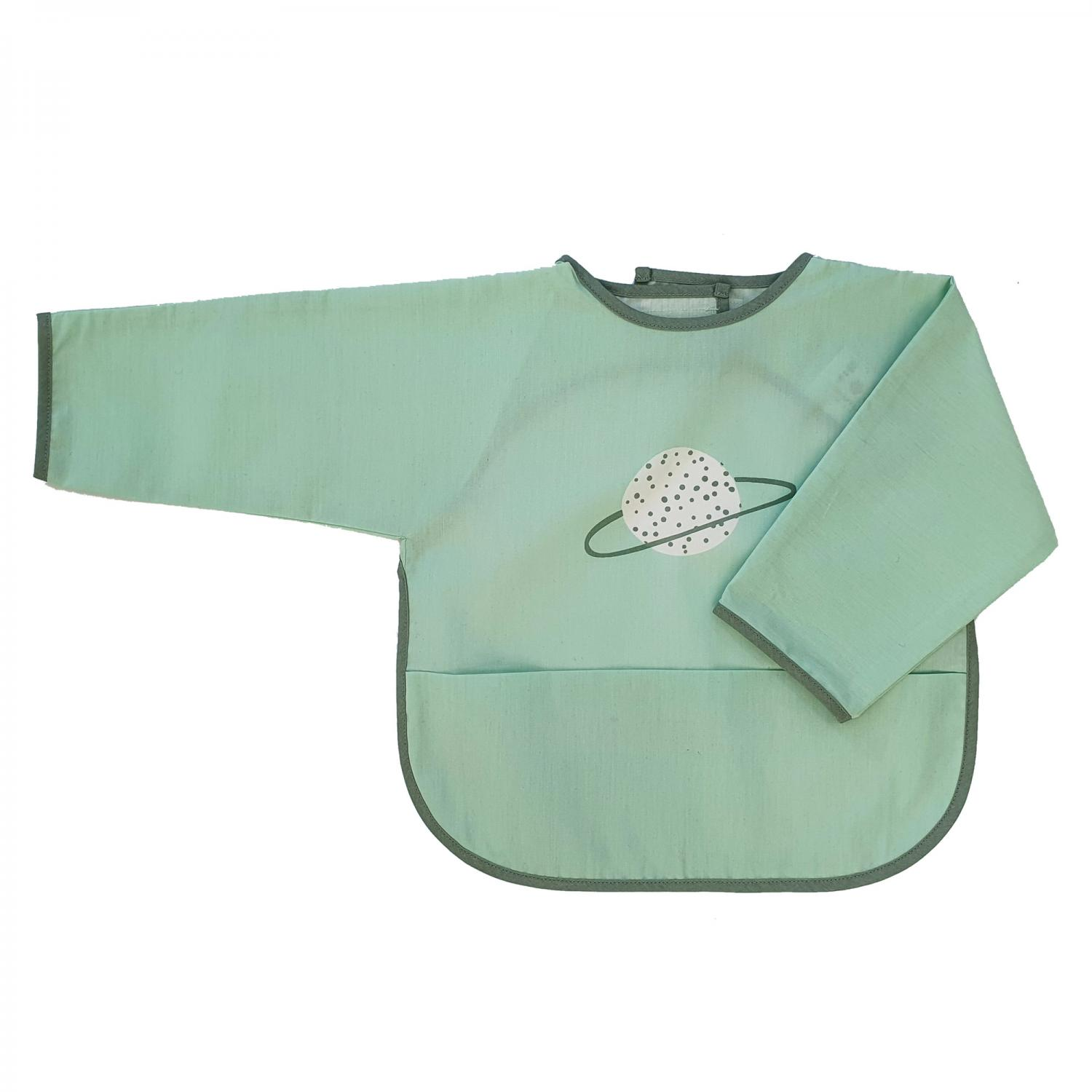 Bib with sleeves green planet
